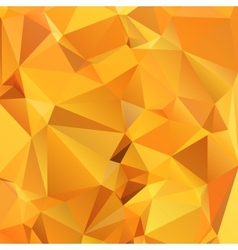 Abstract gold orange background polygon vector image