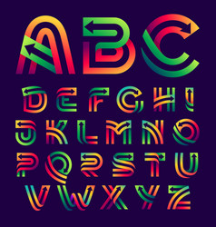 alphabet letters with arrows inside vector image