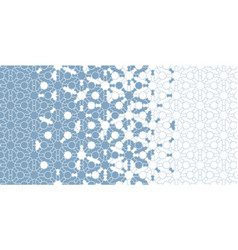 Arabic islamic blue border mosaic seamless vector