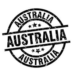 Australia black round grunge stamp vector