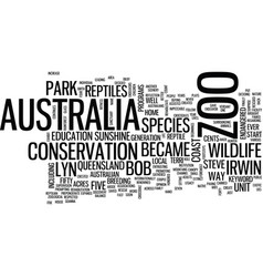 australia zoo text background word cloud concept vector image