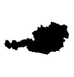 Austria island map silhouette vector
