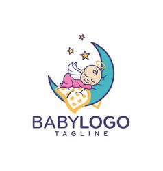 Baby logo design stock vector