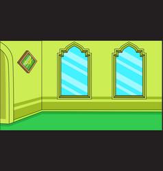 Background muslim religious inside mosque vector