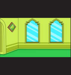 Background muslim religious inside mosque with vector