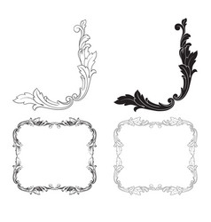 Baroque of vintage elements for design vector