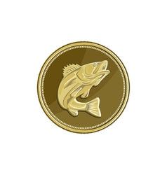 Barramundi Gold Coin Retro vector image