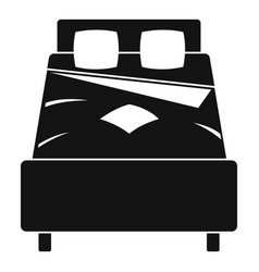 Bed icon simple style vector