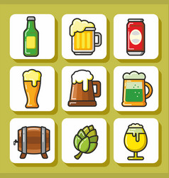 beer icons 1 vector image