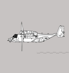 Bell boeing cv-22b osprey vector