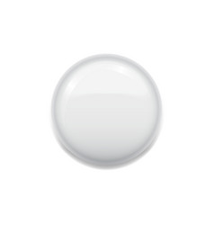 blank white badge on white vector image