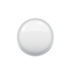 Blank white badge on white vector