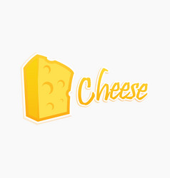 block piece of cheese premium quality vector image