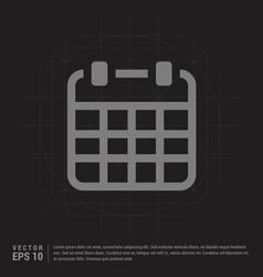 calendar icon - black creative background vector image