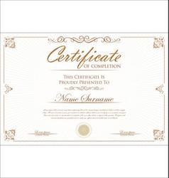 certificate 01 vector image