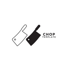 chop knife graphic design template vector image