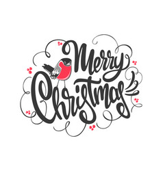 christmas card with a bright bird vector image