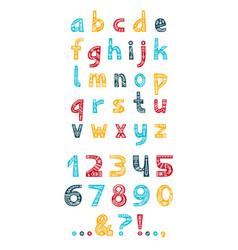 Christmas ornaments alphabet typeset vector