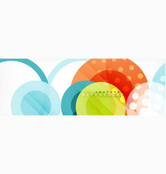 circle composition abstract background vector image