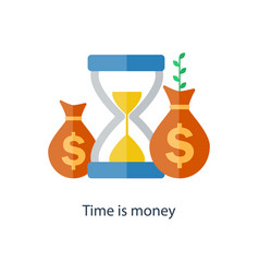 Compound interest time is money pension fund vector