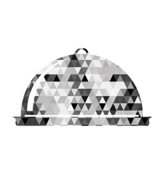 covered tray icon image vector image
