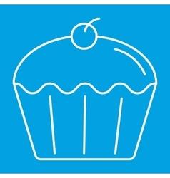 Cupcake thin line icon vector image