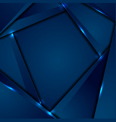 dark blue corporate background with glowing lines vector image