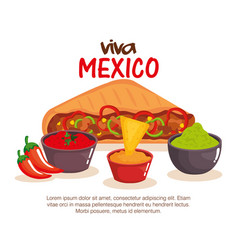 delicious mexican quesadillas icon vector image