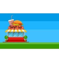 Fast food cafe flyer or banner vector image