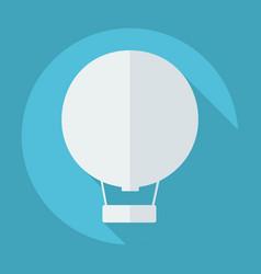 Flat modern design with shadow hot air balloon vector