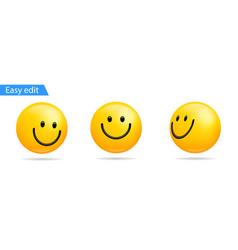 Fun emoji symbol 3d smile face icon emojis happy vector