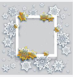 Gold snowy card vector