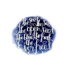 Graphic ocean quote vector