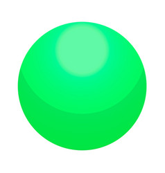 green candy ball icon isometric style vector image