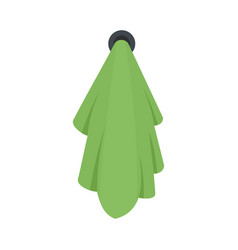 green towel icon flat style vector image