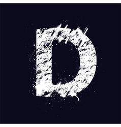 Grunge letter D vector