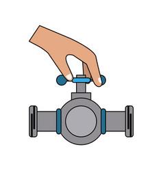 hands on pipeline vector image