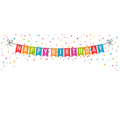happy birthday banner birthday party flags with vector image