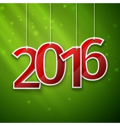 happy new year card paper 2016 text design vector image