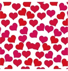 hearts love concept valentine seamless pattern vector image vector image