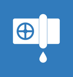 Icon water pipe and drop vector