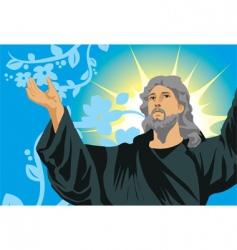jesus show hand vector image