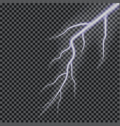 lightning transparent lightning effect vector image