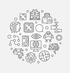 Machine learning circular vector