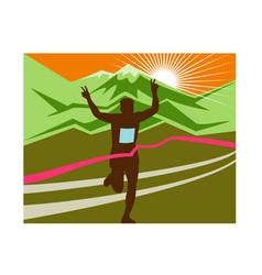 marathon race finisher vector image