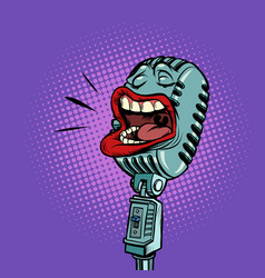 microphone radio concert podcast music show vector image