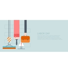 modern flat labor day or 1 may vector image