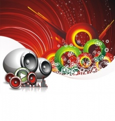 Music and speakers vector