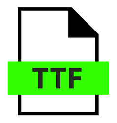 Name extension ttf type vector