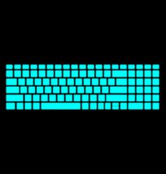 Neon keyboard on black background modern vector